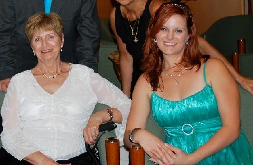 My grandmother Angela and I in 2010- we were on a cruise to celebrate her 75th birthday