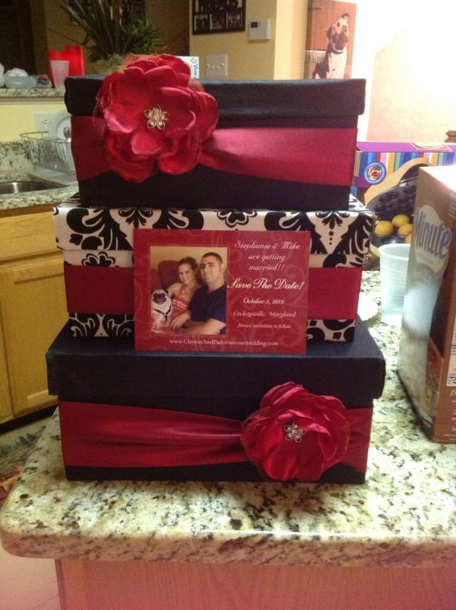 Our cardbox.. the card I have there now is our save the date.. will be a different card for the reception.