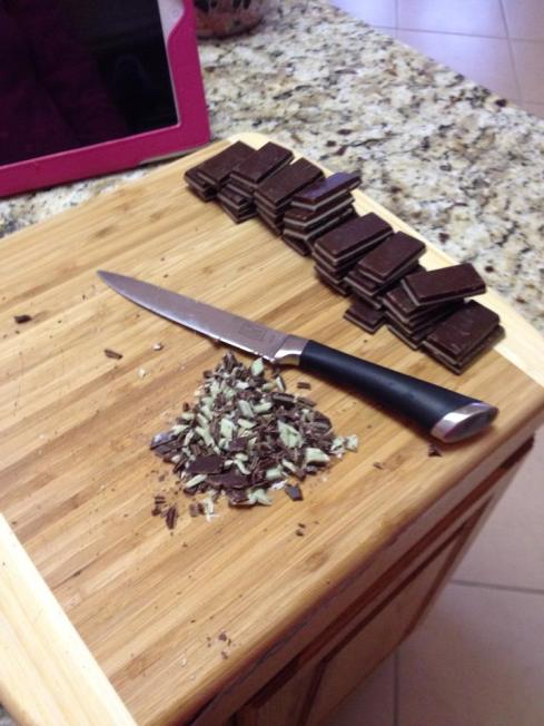 chopping up the Andes chocolates