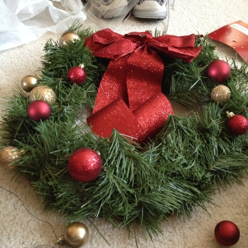 arranging the ornaments