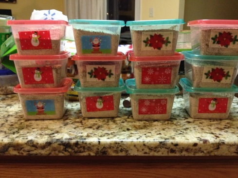 two batches filled 12 of these dollar store containers :)
