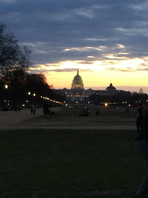 beautiful sunrise over the Capital Building