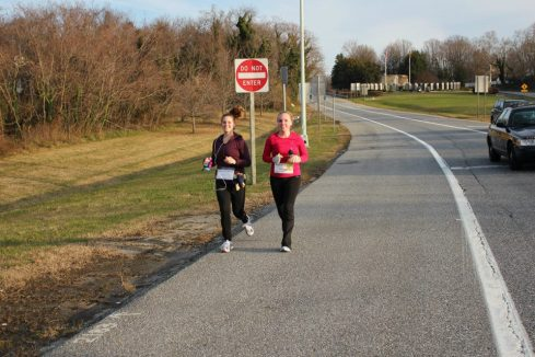 Dawn and I, 12 miler in Annapolis