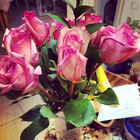 love me some pink roses