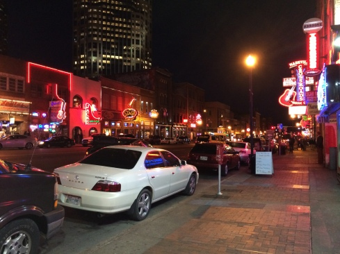 On Broadway, downtown Nashville