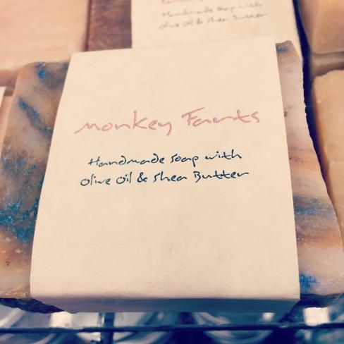 oooh.. soap! Almond Vanilla.. Lemongrass.. Monkey Farts!?!?