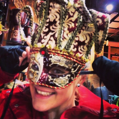 it's not New Orleans.. but I found a pretty cool Mardi Gras mask!