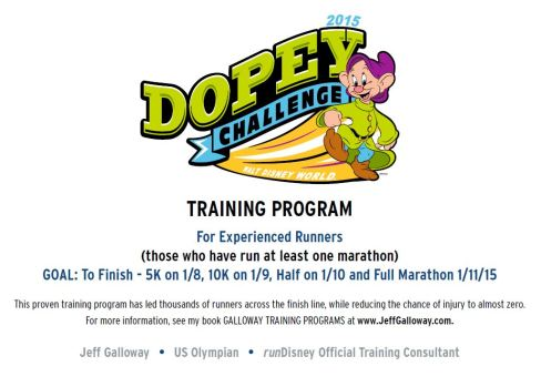 Training with the Galloway Method, courtesy of RunDisney