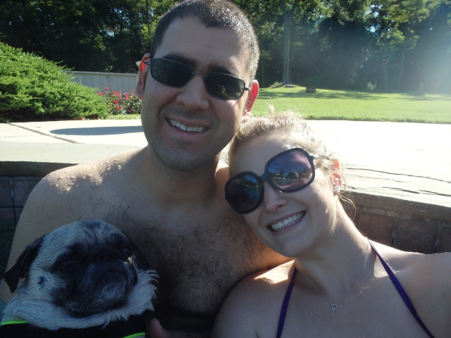 family photo in the pool!