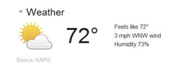 a little humid, but not bad temperature wise