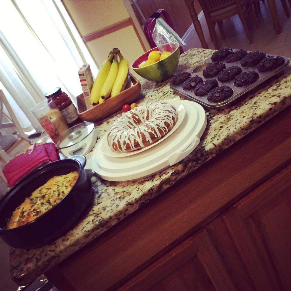 crustless summer squash quiche, Tastefully Simple Chai cake, and ...