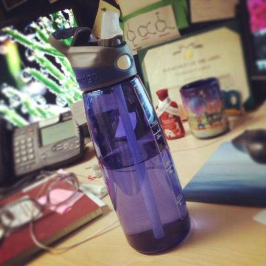 New water bottle for work