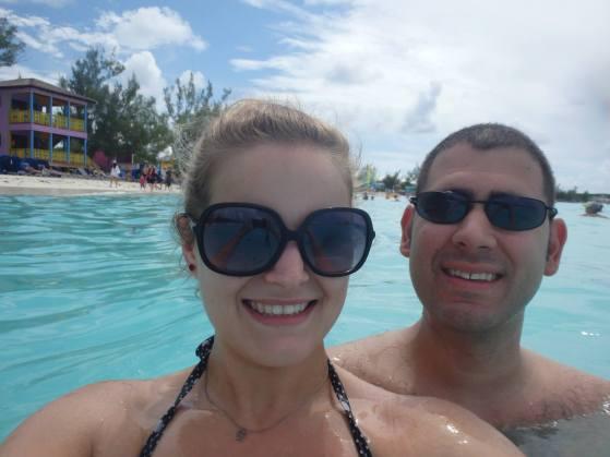 swimming at Half Moon Cay