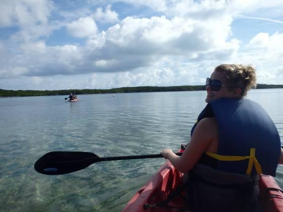 kayaking in Half Moon Cay