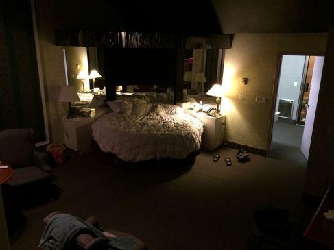 sunken bedroom