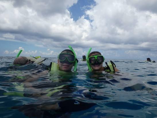 Power snorkeling in Grand Turk