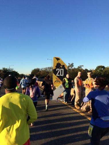 Marathon 20 mile marker