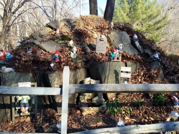 random weird gnome garden...