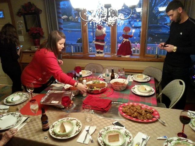 setting up for dinner!