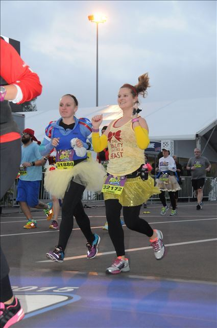 Dawn and I finishing behind Mike