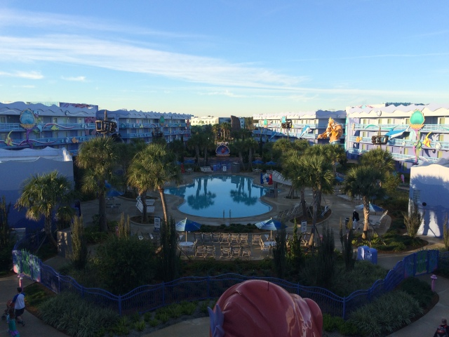 View from the 4th floor of our building, overlooking the Little Mermaid Pool