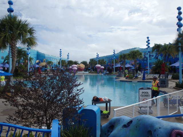 Big Blue Pool, main pool in front of Finding Nemo