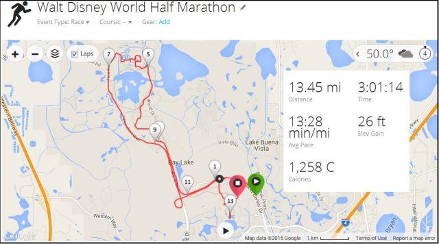 Garmin half marathon stats