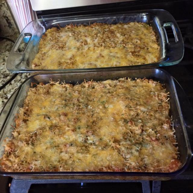 Quinoa Taco bake... I made two so we could eat it during the week