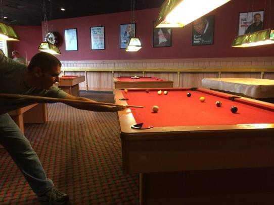 playing lots of pool